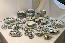 Blue Danube China Dinerware Set 18- 6 Pieces Place Settings And 18 Serving Pieces