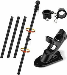 Barcetine Flag Pole Kit 5ft Flag Pole And Bracket Used For House Porch Outdoor ...
