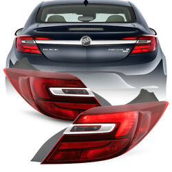 [direct Replacement] For 14-17 Buick Regal Tail Light Brake Signal Red Clear L+r