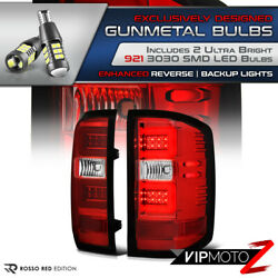 Smd Chips Led Bulb Reverse Red Neon Tube 16-18 Chevy Silverado Tail Light Pair