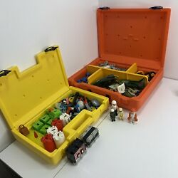 Vintage 1980's Fisher Price Construx Case And Parts Lot Building Toys Lots Of 2
