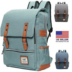 Laptop Rucksack Backpack Travel College Fits a 15.6quot; Macbook $18.99