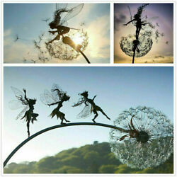 Fairies And Dandelions Dance Together Home Garden Stakes Decor Yard Lawn Ornament