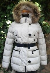 Authentic Moncler Gene Down Coat Size 1 Belted Rare White