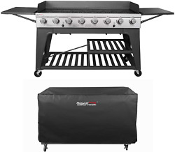 Royal Gourmet Event 8-burner Bbq Propane Gas Grill With Cover Picnic Or Camping
