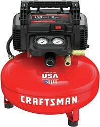 Craftsman Air Compressor, 6 Gallon Pancake Oil-free With 13 Piece Accessory Kit