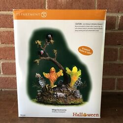 Dept 56 Snow Village Halloween - Animated And Lighted Shaking Graveyard W/ Adapter