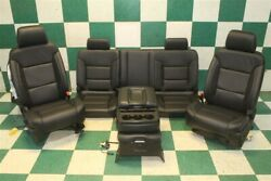 17and039 Silverado Dbl Cab Leather Power Man Buckets Seats Backseat Console Jumpseat