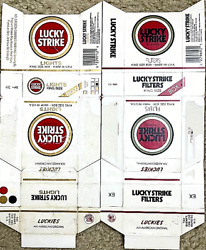 Lucky Strike - Vintage Cigarette Collection - Usa 🇺🇸 - 80s - Empty Pack