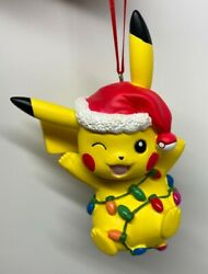 Pikachu Collectible Christmas Ornament From Pokemon Center With Pez Gift