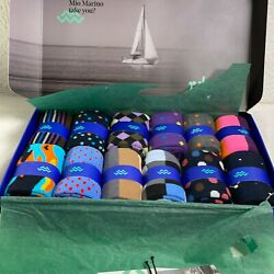 Mio Marino Mens Colorful Trendy Collection Dress Socks Pack Of 12 Size 13-15