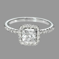 2.25 Ct Certified Cushion Cut Diamond Engagement Ring 14k White Gold F/si1