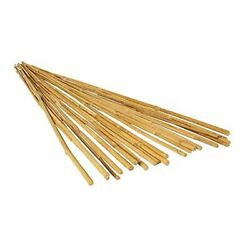 4' Natural Pack Of 25 Bamboo Stake Tan Natural Finish Strong And Durable Quality