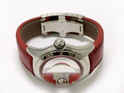 Corum Bubble Swiss Flag 82.150.20 Menand039s Watch Automatic Date Ss Red White 45mm