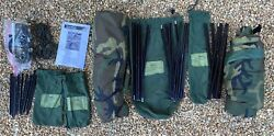 Us Military One Man Tent Improved Combat Shelter W/poles,stakes,pouches Vg Cond