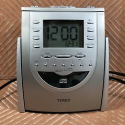 Timex T618t Am/fm Radio Cd Player Alarm Clock Snooze Nature Sounds Tested Works