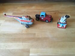 Lot Of 3 Japanese Tin Plate Toys