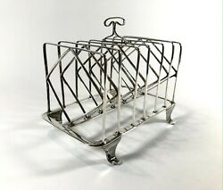 Large Antique Georgian Solid Silver Sterling Toast Rack 1805