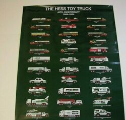 Hess Toy Truck 40th Anniversary Poster Hess Toy Truck Collector Poster 2004