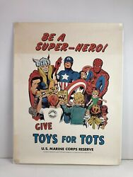 Jack Kirby Marvel U.s. Marine Corps Reserve Toys For Tots Poster