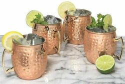 100 Pure Copper Solid Hammered Cup Mug Moscow Mule Beer Mug From India
