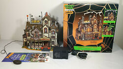 2000 Lemax Spooky Town Halloween Porcelain Dr Tingleand039s Laboratory In Box Retired