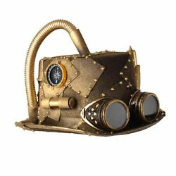 Steampunk Hats With Goggles Vintage Retro Punk Unisex Party Halloween Cosplay
