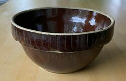 Antique Ruckels Mixing Bowl Stoneware 10 Picket Fence Inverted Pyramid