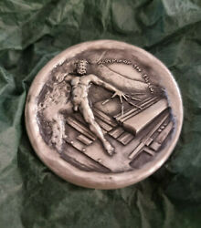 Aluminium Of Greece Sterling Silver 999 Commemorative Medal 30 Years 1966-1996.