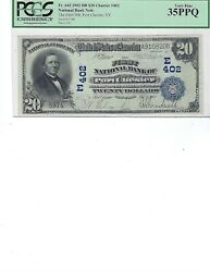 1902 20 National Bank Note Fr642 Ch402 Port Chester New York Pcgs 35 Ch Vf Ppq