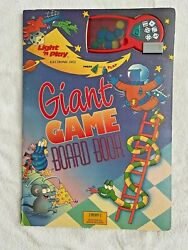 Giant Game Board Book Light N Play Electronic Dice Vintage Tormont Not Working