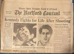 Robert Kennedy Shooting -newspaper The Hartford Courant