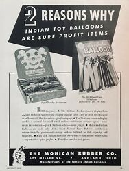 1948 Adl13mohican Rubber Co. Ashland, Ohio. Mohican Toy Novelty Balloons
