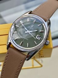 Omega Automatic Seamaster Olive Green Dial Steel Mens Vintage 1972 Watch