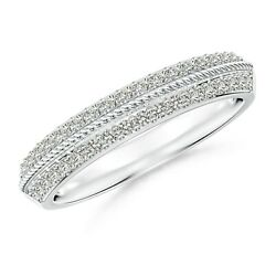 1.3mm Diamond Twisted Rope Knife-edged Wedding Band In Gold/platinum Size 3-13
