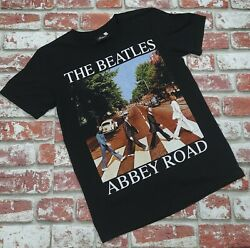 Rock Tees The Beatles Size M Black Abbey Road Graphic Tshirt Rock Music Classic