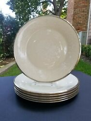 Set Of 6 Lenox Moonspun Dinner Plates 10 3/4 Made In Usa New Condition