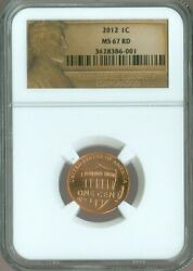 2012 Lincoln Shield Cent Penny Ngc Ms-67 Quality✔️