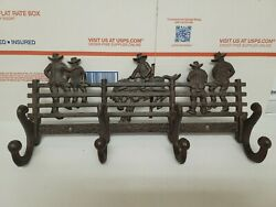 Cast Iron Wall Decor Hook For Coats And Hats Cowboy Western Design