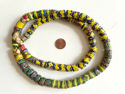 Antique Venetian Millefiori Glass African Trade Beads - 83 Mixed Large Strand