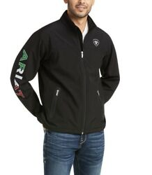 Ariat Menand039s New Team Softshell Mexico Water Resistant Jacket-10031424