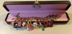 Juicy Couture🎀heart And J Bracelet With 9 Rare And Limited Edition Charms🎀