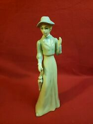 Antique Arnart Lladro Style Porcelain Figurine Lady With Umbrella Taiwan 8 High