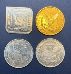 Lot Of Four Different Readers Digest Token Coins