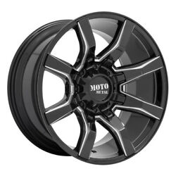 Moto Metal Mo804 Spider 20x9 8x165.1 Offset 0 Gloss Black Milled Quantity Of 4