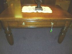 Antique Oak Table Coffee Sofa Quarter Sawn Solid 1900and039s Refinished