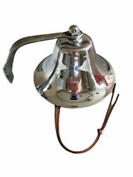 Fog Yacht Ship Boat Bell Nautical 6 Inch Diameter Wall Mount Chrome Plated