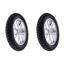 Set Of 2 Mini Pocket Bike Wheels And Tyre Tire Rear+front For 49cc 2 Stroke