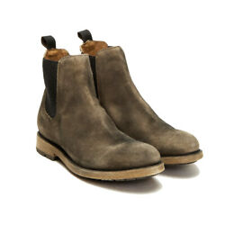 Frye Men's Suede Leather Bowery Chelsea Boots Faded Black