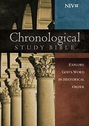 Niv, Chronological Study Bible, Hardcover Holy Bible, New By Thomas Nelson Mint